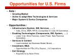opportunities for u s firms
