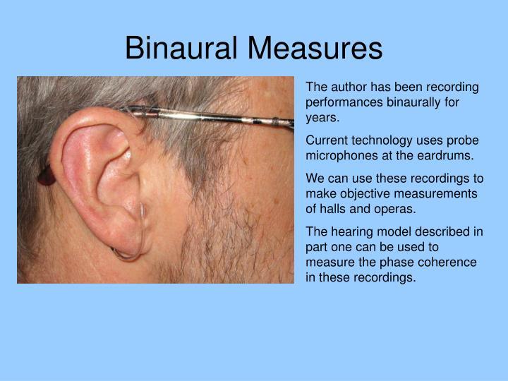 Binaural Measures
