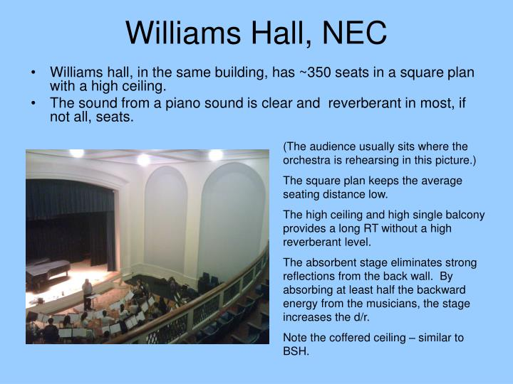 Williams Hall, NEC