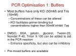 pcr optimisation 1 buffers