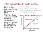pcr optimisation 5 cycle number