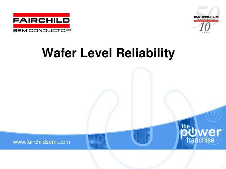 wafer level reliability n.