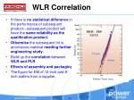 wlr correlation