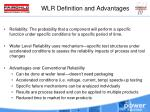 wlr definition and advantages