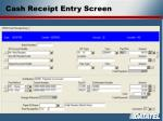 cash receipt entry screen