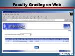 faculty grading on web