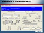 financial aid status info fasi
