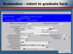 graduation intent to graduate form