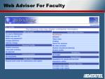web advisor for faculty