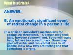 what is a crisis1