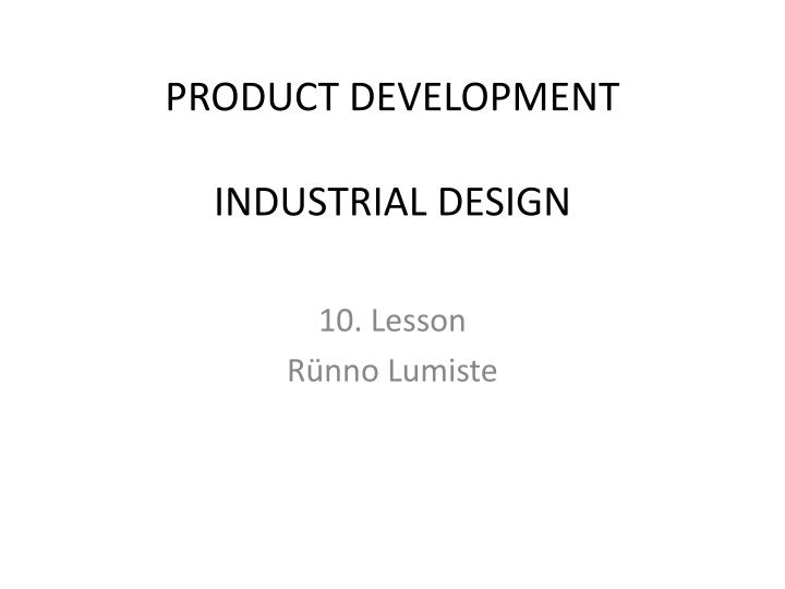 product development industrial design n.