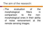 the aim of the research