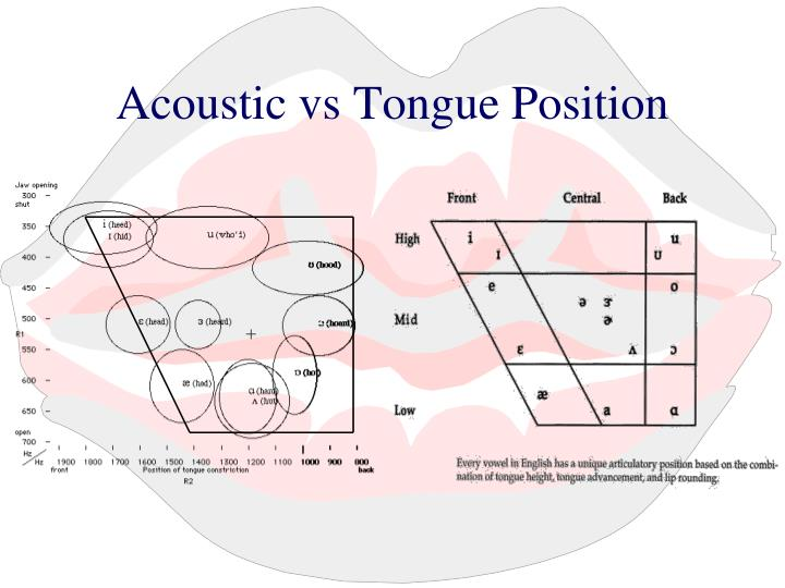 Acoustic vs Tongue Position