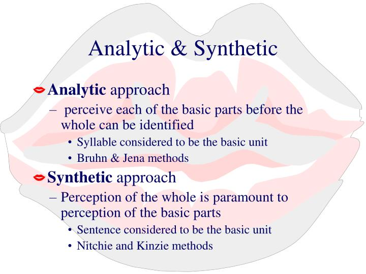 Analytic & Synthetic