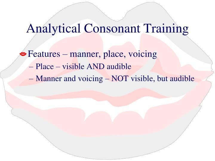 Analytical Consonant Training