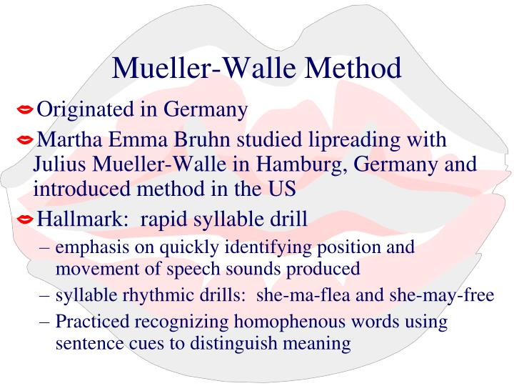 Mueller-Walle Method