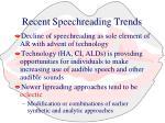 recent speechreading trends