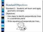 standard objectives