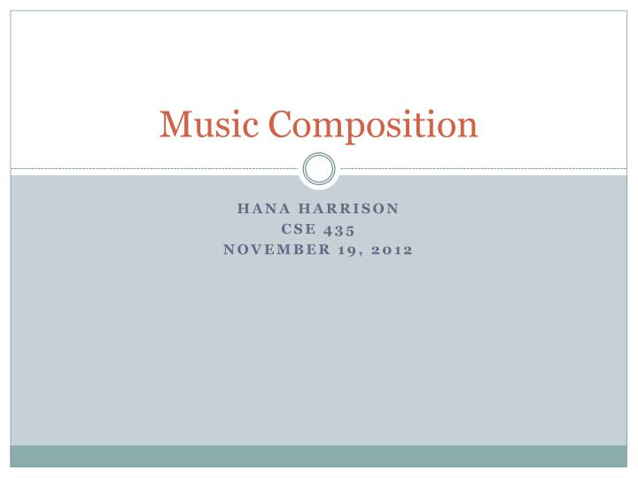 music composition n.