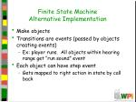finite state machine alternative implementation