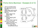 finite state machines example 2 of 2