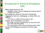 introduction to artificial intelligence ai