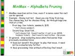 minmax alphabeta pruning