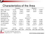 characteristics of the area2