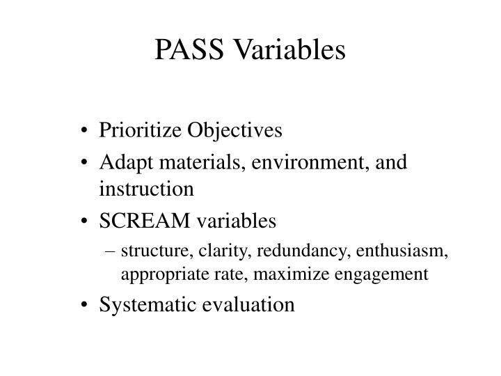PASS Variables