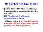 no half hearted kind of love