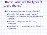 effects what are the types of sound change