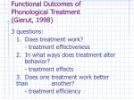 functional outcomes of phonological treatment gierut 1998