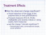 treatment effects