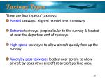 taxiway types
