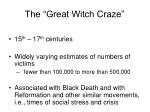 the great witch craze
