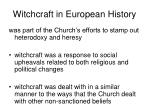 witchcraft in european history