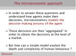 the microeconomic approach2