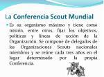 la conferencia scout mundial