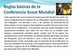 reglas b sicas de la conferencia scout mundial