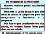da necessidade da vida social1