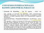 convenios internacionales ratificados por el paraguay1
