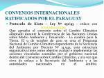 convenios internacionales ratificados por el paraguay2