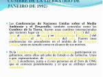 cumbre de la tierra rio de janeiro de 1992