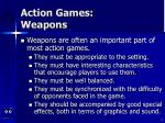 action games weapons