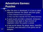 adventure games puzzles