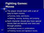 fighting games moves