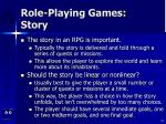 role playing games story