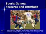 sports games features and interface78