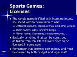 sports games licenses