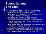 sports games the look